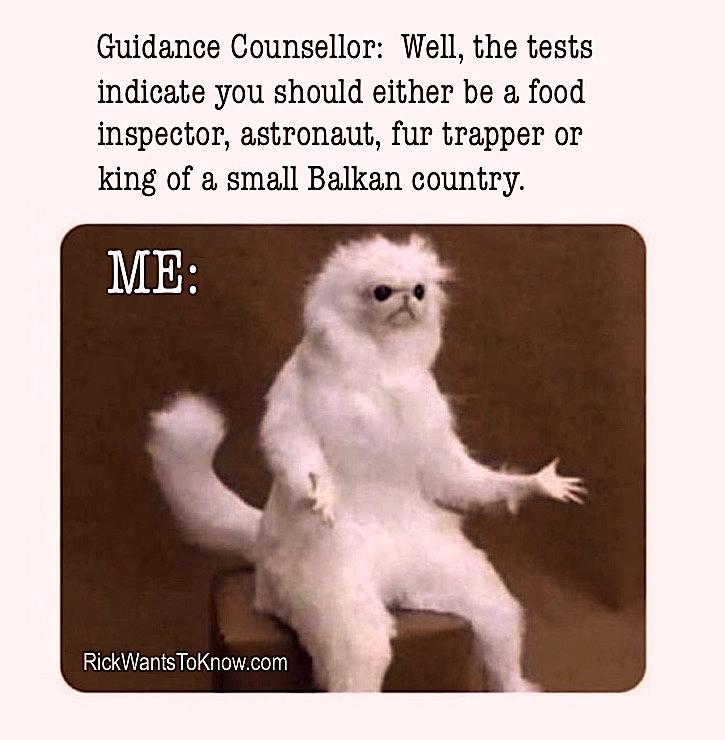 Rick Green Meme - Guidance Counsellor Fur Trapper
