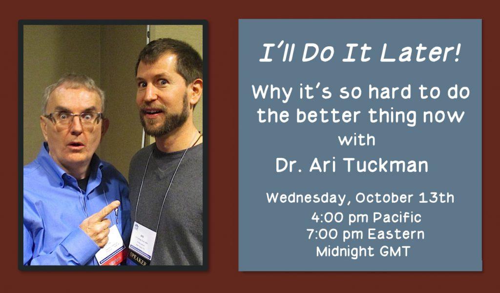 Webinar with Dr Ari Tuckman